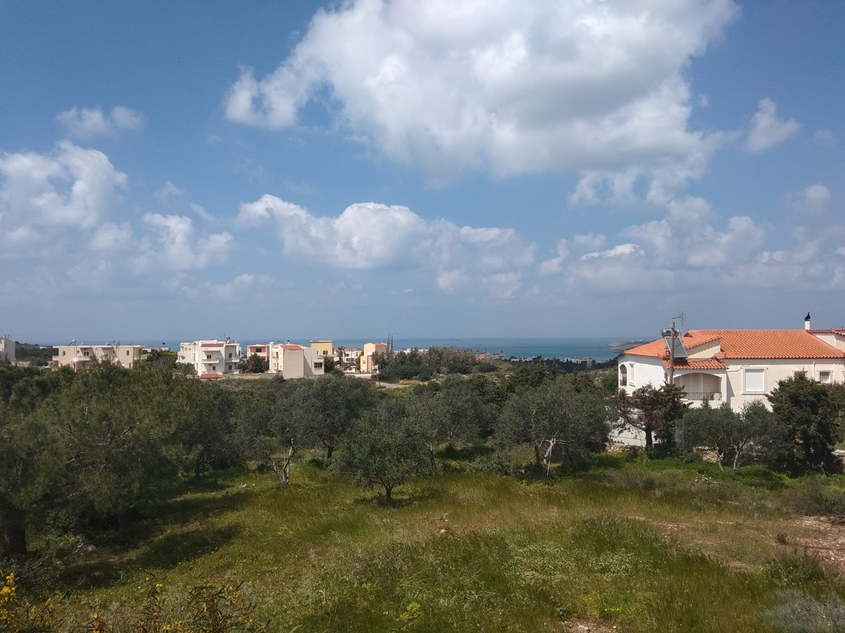 House for sale in Akrotiri Chania Crete with sea and mountain views