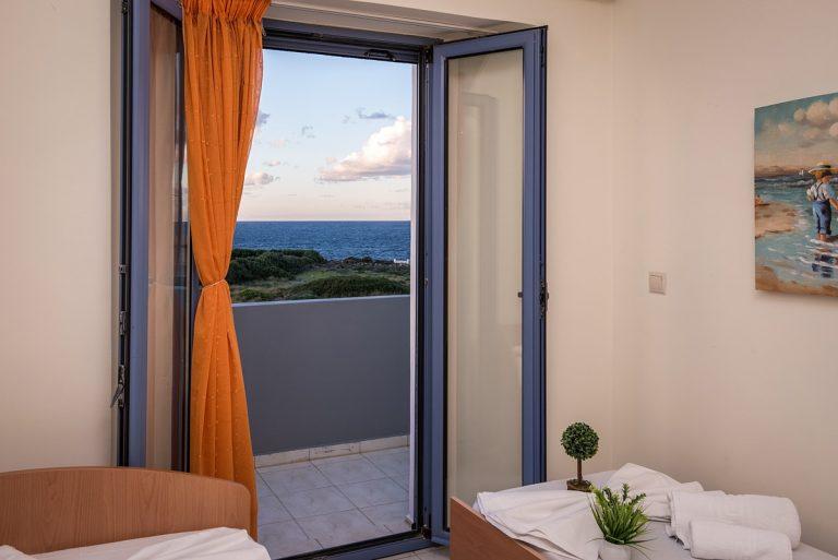 villas in chania crete for sale balcony view