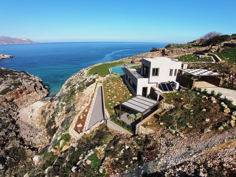 luxury villa for sale in chania from above