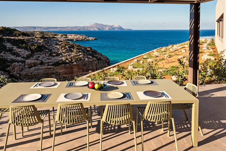 luxury villa for sale in chania outdoor dining