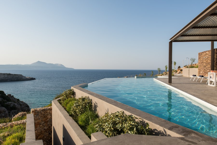 luxury villa for sale in chania pool area