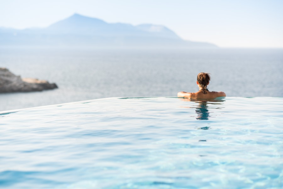 luxury villa for sale in chania infinity pool