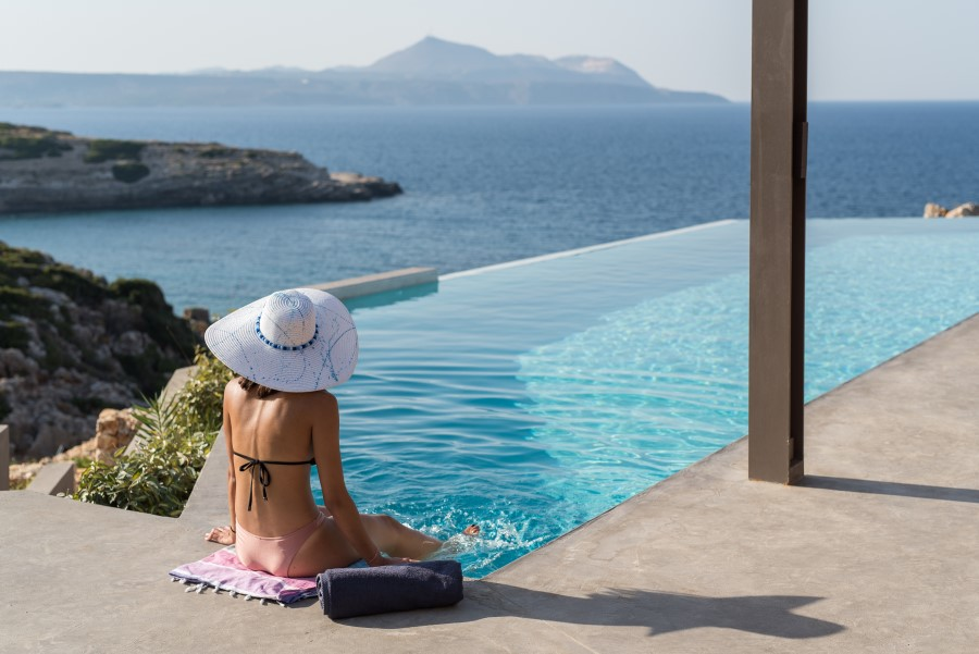 luxury villa for sale in chania pool view