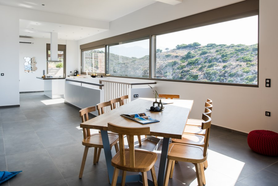 luxury villa for sale in chania dining