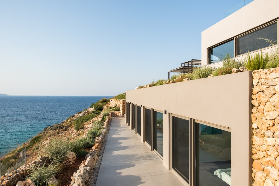 luxury villa for sale in chania side view