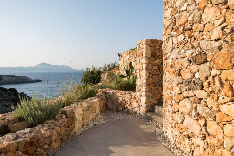 luxury villa for sale in chania stone wall