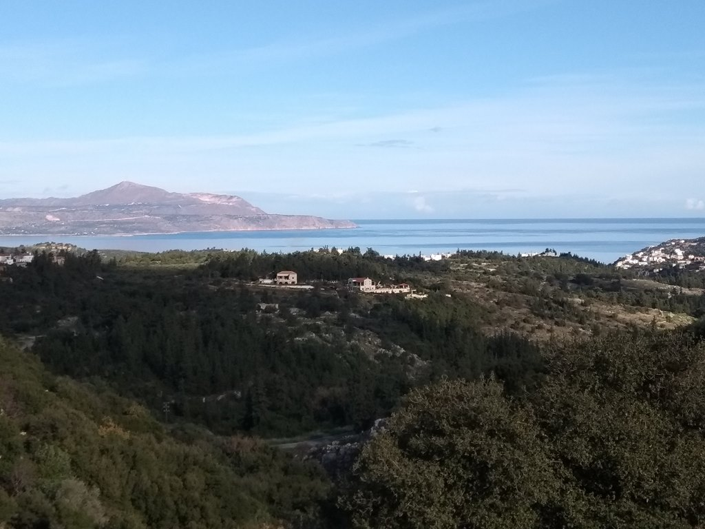 Land in Apokoronas Vamos with sea views