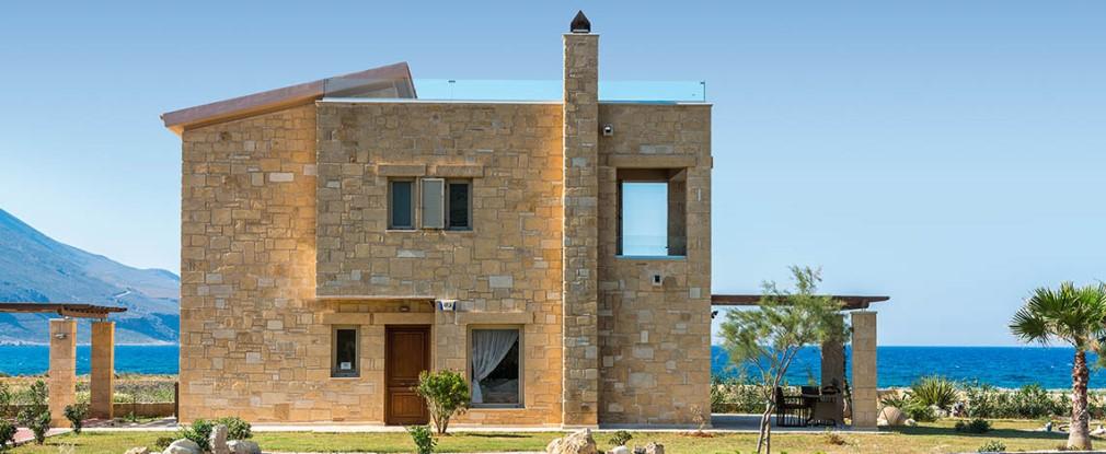 Seafront luxury stone villas