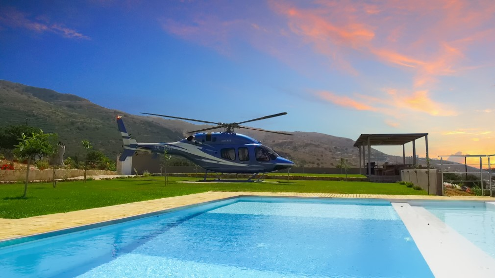 Luxury Villa with Sea Views & Heliport