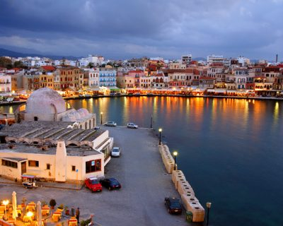 Venetian-harbor-in-Chania-Crete-Greece