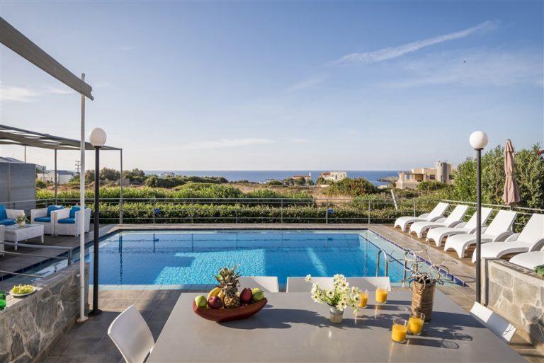 villas in chania crete for sale pool sea