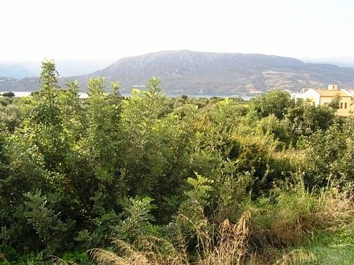 Land with panoramic view of Souda Bay
