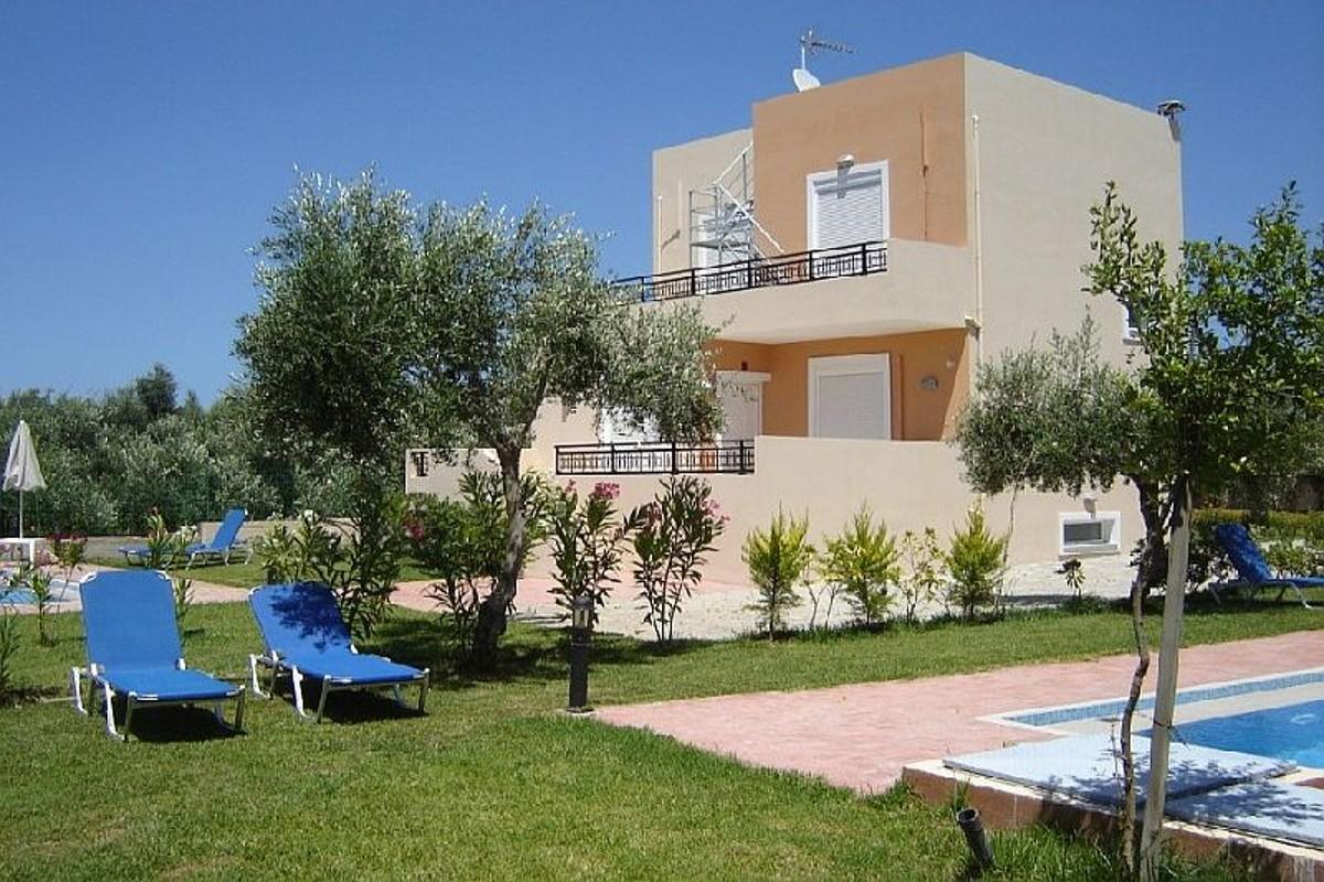 Villas for sale with private pools in Kolymbari Crete landscape