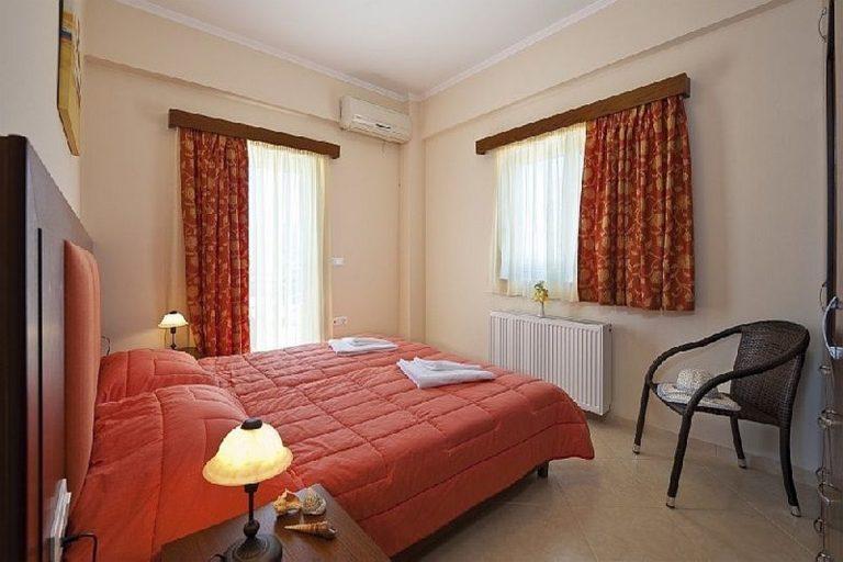 Villas for sale with private pools in Kolymbari Crete bedroom window