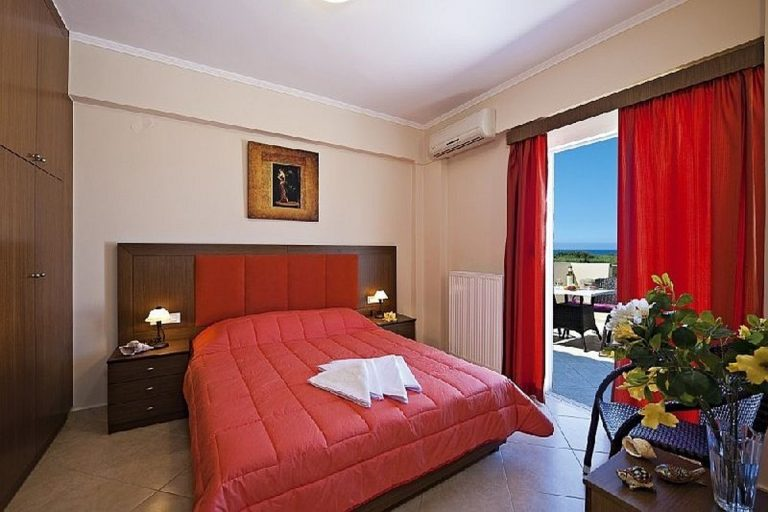Villas for sale with private pools in Kolymbari Crete bedroom red
