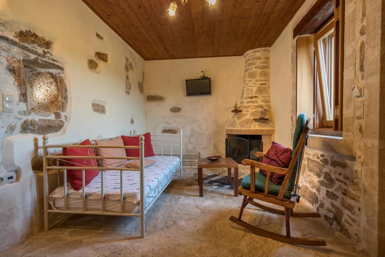 Stone house for sale Rethymno Crete Greece bedroom