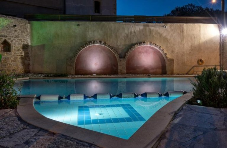 Stone house for sale Rethymno Crete Greece pool area
