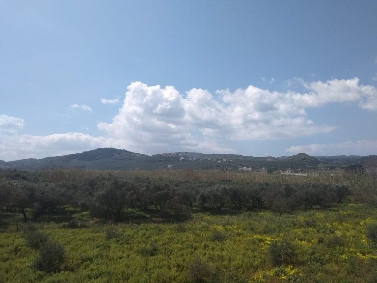 Villas for sale with private pools in Kolymbari Crete landscape view clouds