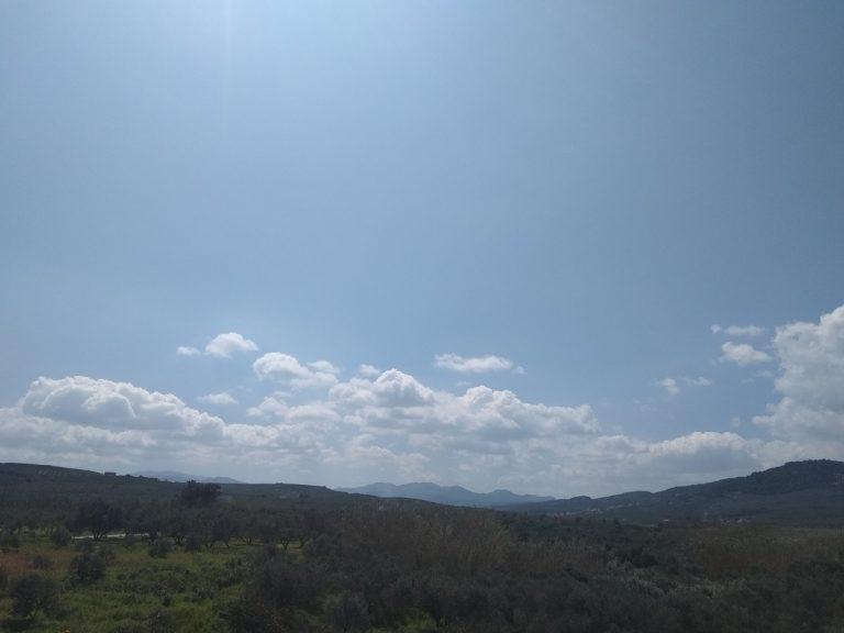 Villas for sale with private pools in Kolymbari Crete trees view landscape