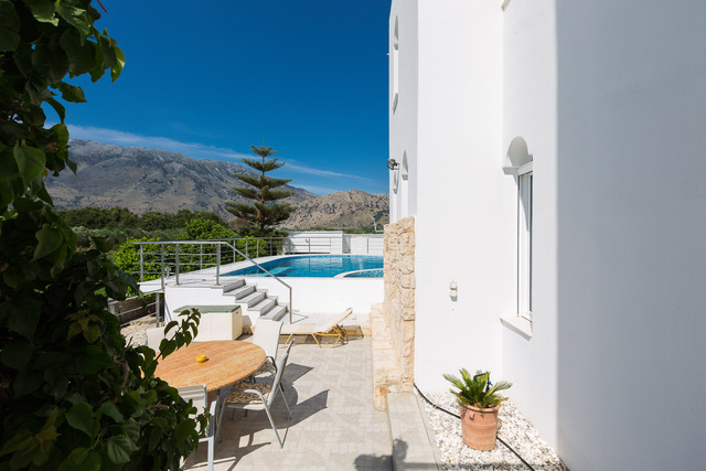 Luxury investment villa Chania Crete side pool