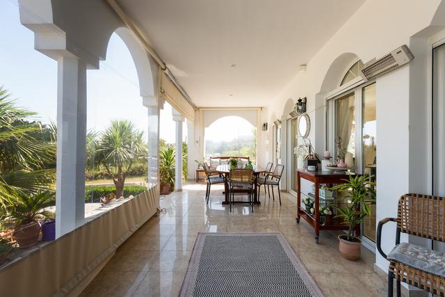 Luxury property for sale Crete Greece patio area