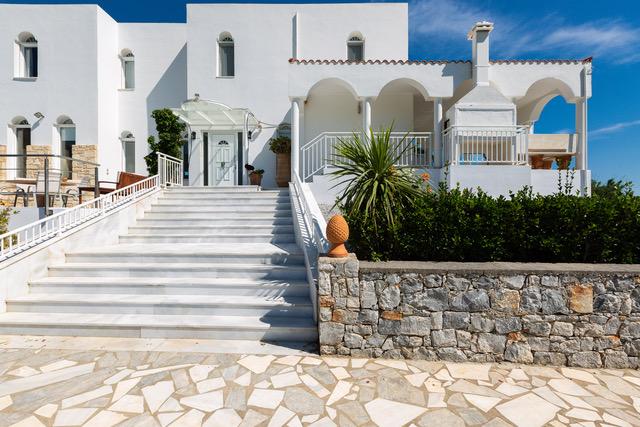 Luxury villa Crete for sale main entrance