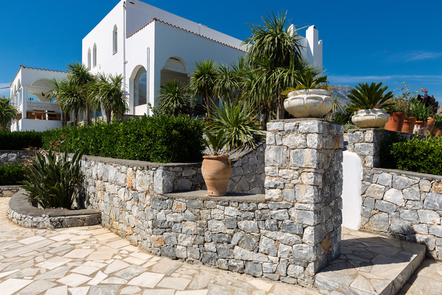 Luxury villa for sale Crete Greece stone walls