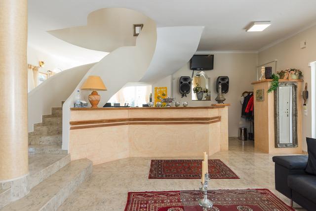 Luxury villa for sale Crete marble staircase