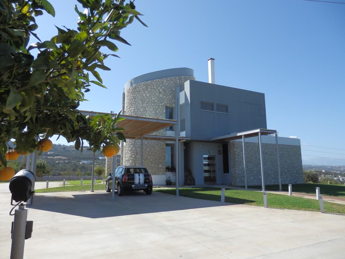 Luxury villa for sale close to beach Crete Rethymno house view