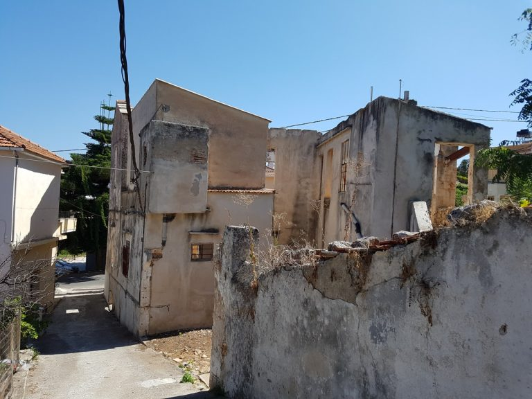 Old stone house for sale in Apokoronas Chania Crete back side