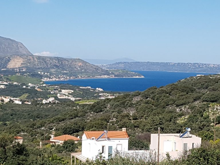 Plot of land for sale in Chania with open sea views