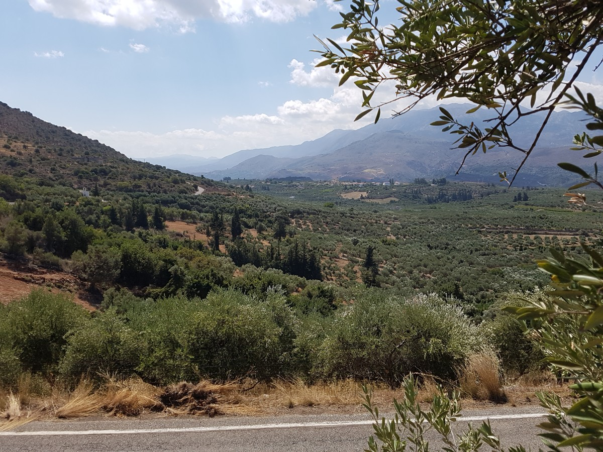 Plot of land in Apokoronas Chania Crete for sale with countryside views
