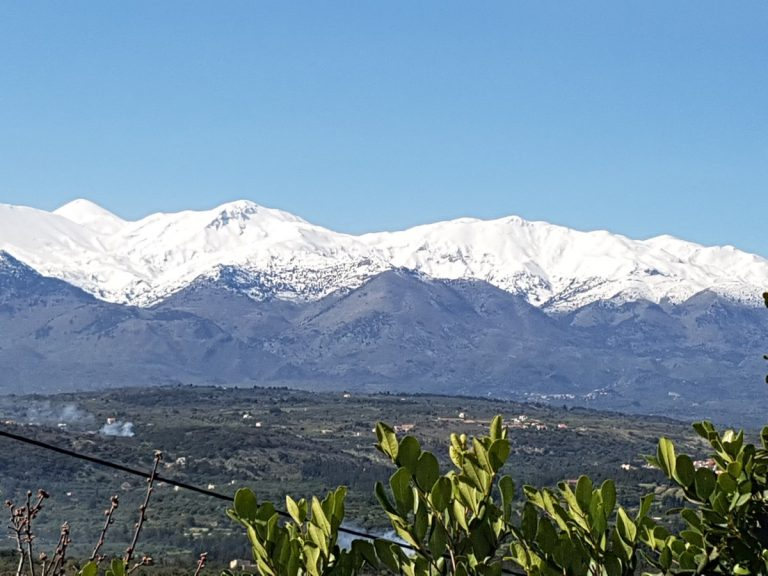 Plot of land in Chania Crete for sale with White Mountain Views