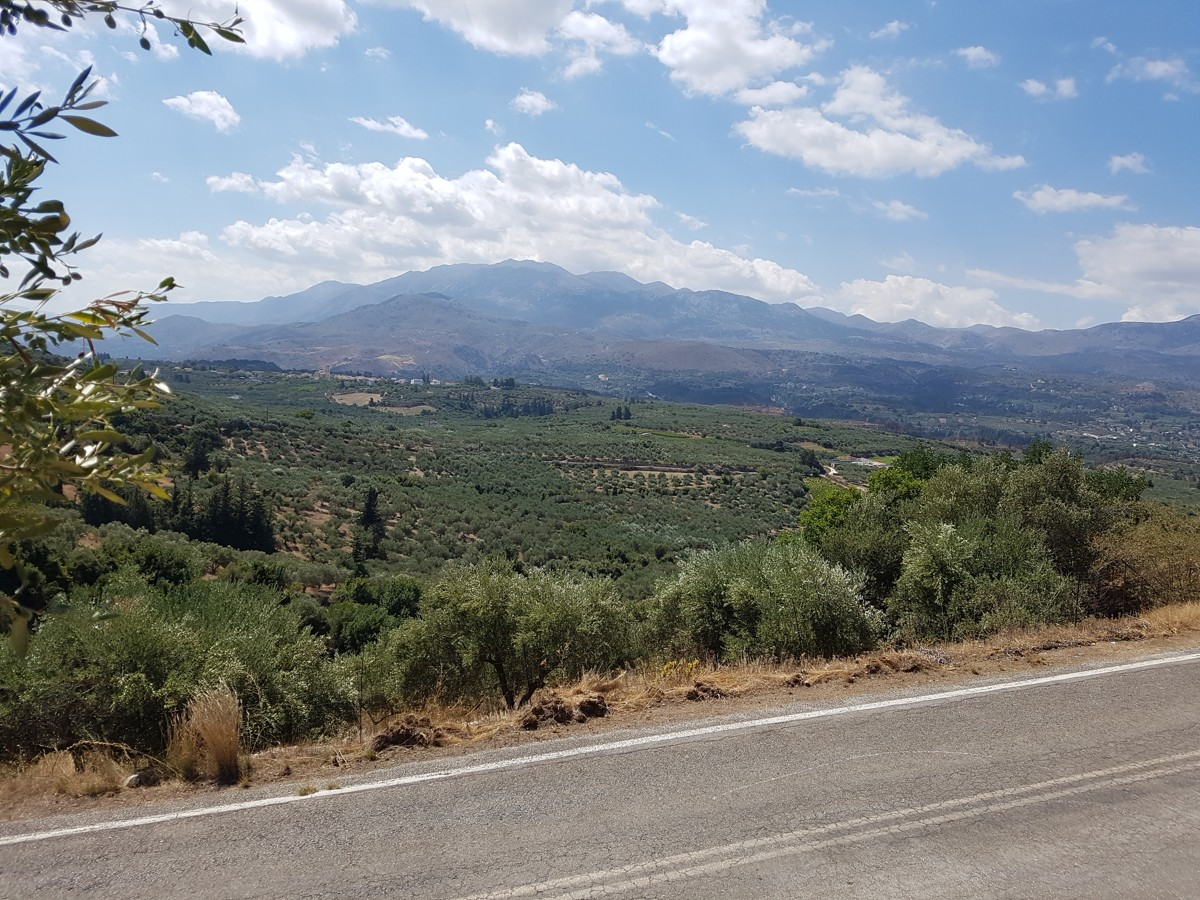 Plot of land in Chania Crete for sale with valley views