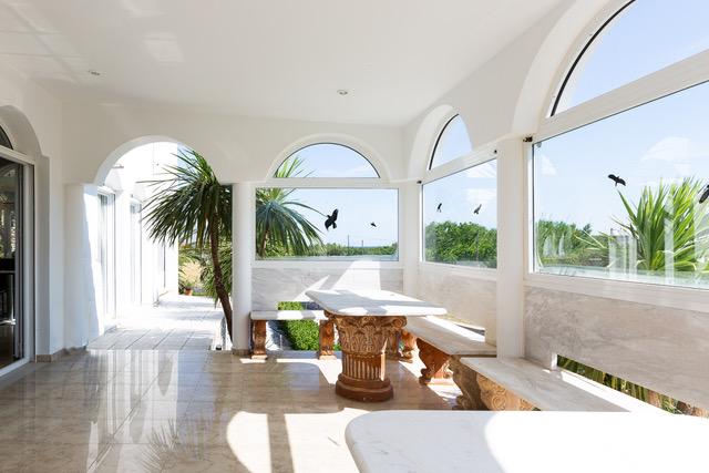 Villa for sale Crete Greece patio detail
