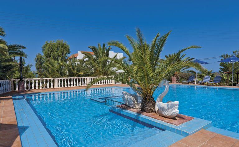 Hotel for sale in Akrtotiri Chania trees pool