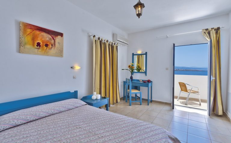 Hotel for sale in Akrtotiri Chania pool bedroom view