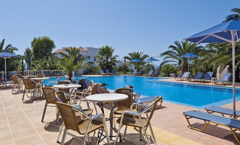 Hotel for sale in Akrtotiri Chania dining pool