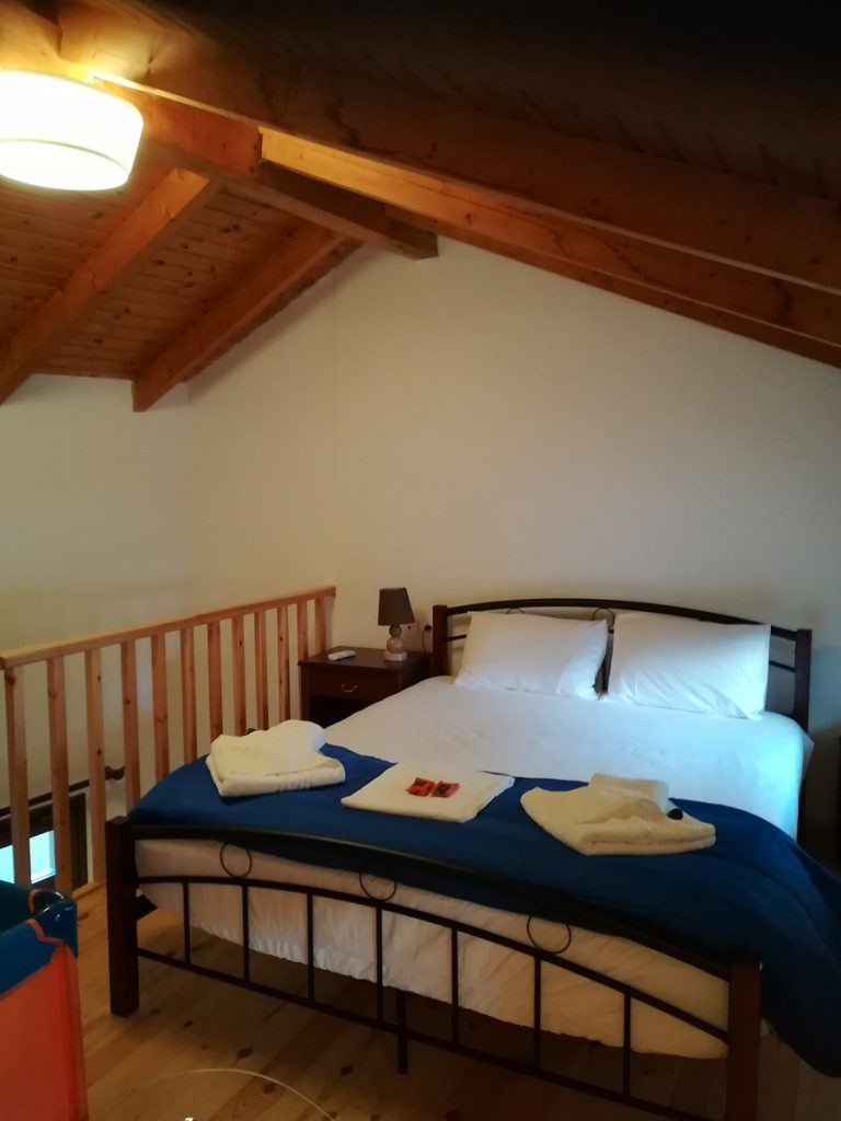 house for sale in Chania old town attic bedroom
