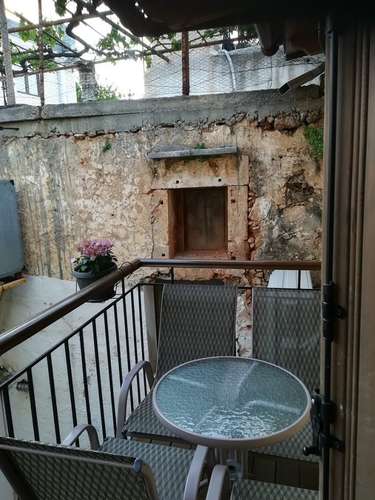 house for sale in Chania old town rear balcony