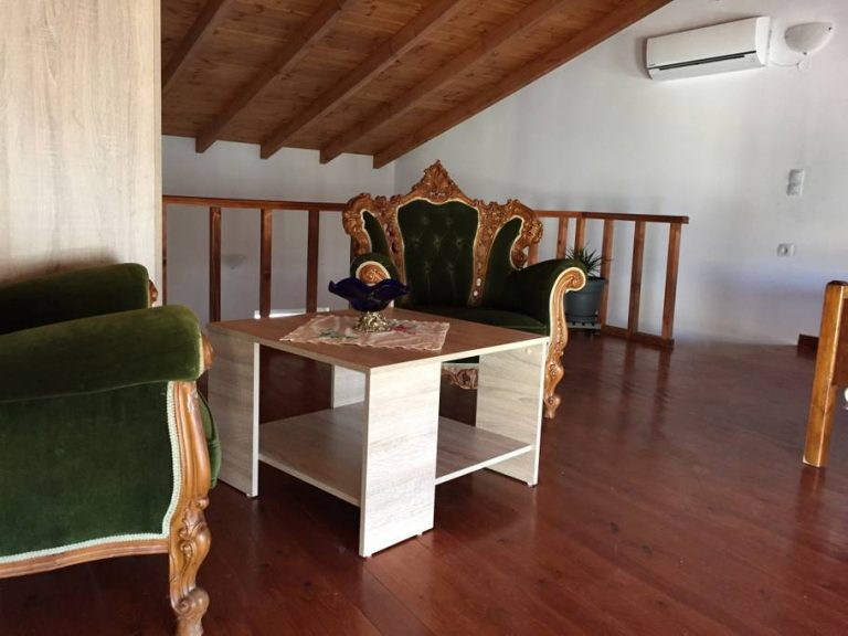 Small hotel for sale in Tavronitis Chania Crete wooden floors and ceiling