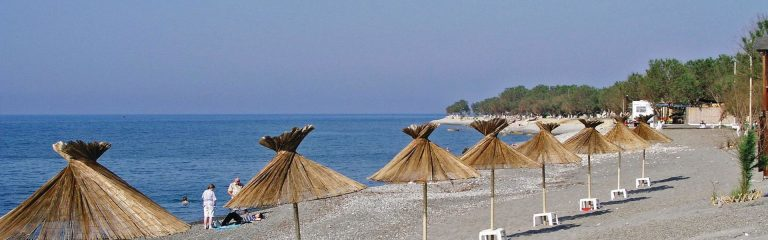 The beach of Tavronitis in Platanias Chania Crete