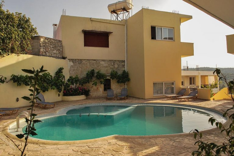 hotel for sale in chania pool area