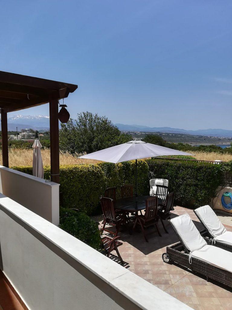 villa in chania crete for sale balcony view