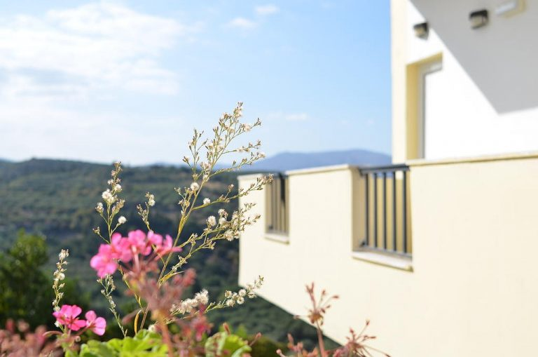hotel for sale in chania baalcony flowers