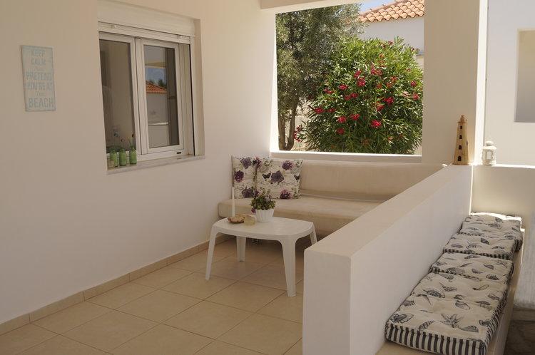 House for sale in Akrotiri Chania Crete covered veranda