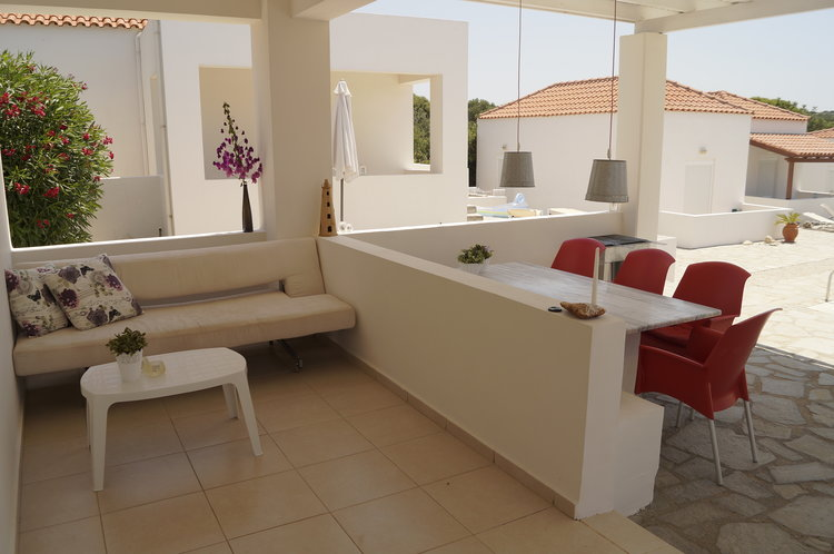 House for sale in Akrotiri Chania Crete outdoor sitting area