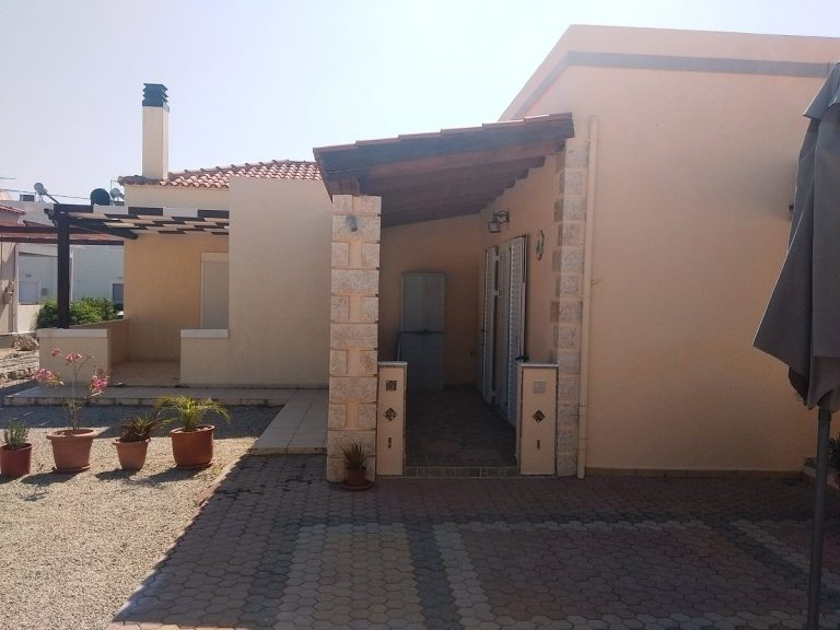 House in Chania Crete for sale front covered veranda