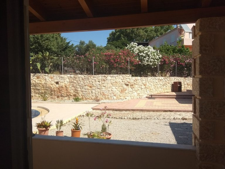 House in Chania Crete for sale pergola covered veranda