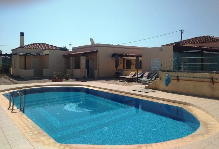 House in Chania Crete for sale shared swimming pool